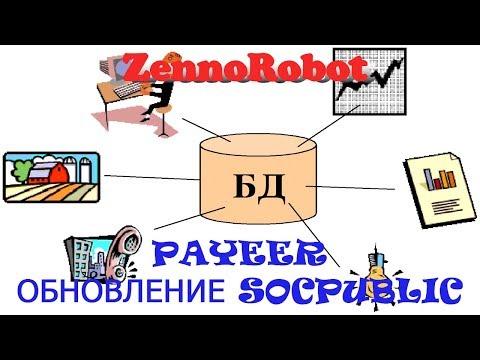 ZennoRobot база для аккаунтов. Zennoposter + Payeer кошелек. Обновление  SocPublic.