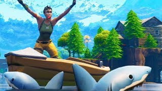 TROLLING PEOPLE AS SHARKS! | Fortnite Battle Royale