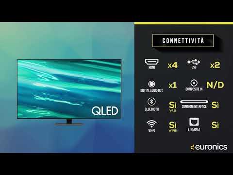 "SAMSUNGTV QLED 4K 55"" QE55Q80A Smart TV Wi-Fi  2021Carbon Silver"