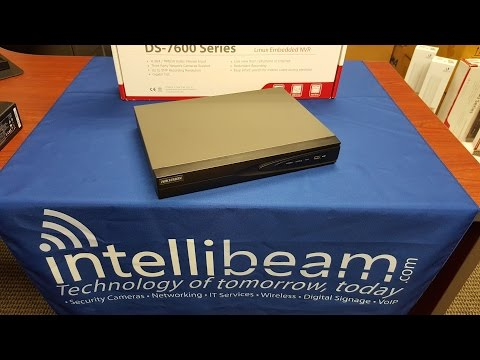Hikvision DS-7604NI-E1/4P 4Ch NVR with 4-Port PoE unboxing by Intellibeam.com