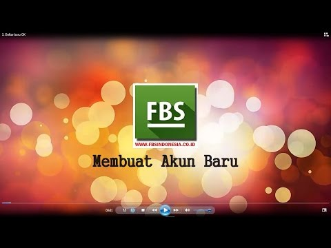 Video Cara melakukan pendaftaran pada akun forex FBS