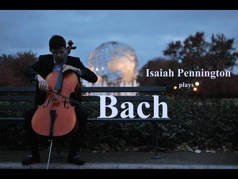 Isaiah Pennington performs Bach's Cello Suite No. 2 in D Minor (Prelude)