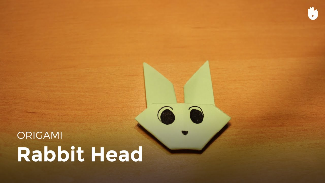 origami rabbit head learn how to make origami sikana