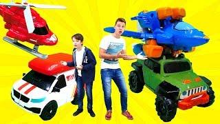 Трансформеры тоботы. Игры для мальчиков: крутые машинки. Распаковка.