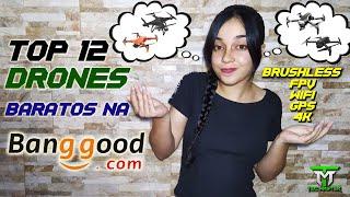 12 DRONES TOP na BANGOOD com FPV GPS 4K BRUSHELLES baratos