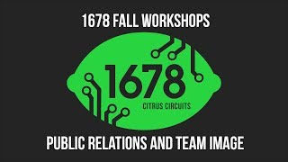 Fall Workshops 2018 - Public Relations and Team Image