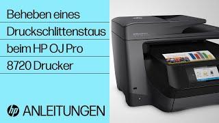 Beheben eines Druckschlittenstaus beim HP OfficeJet Pro 8720 Drucker