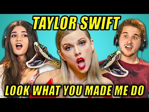 ADULTS REACT TO TAYLOR SWIFT - LOOK WHAT YOU MADE ME DO