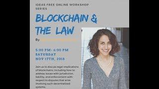 Ms. Salehpour's Recent Webinar on Blockchain Law for IDEAS