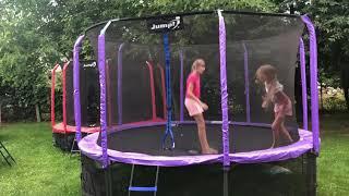 Батут для дома Tima sport Jumpi 310\312 см 10FT + чехол! - видео 1