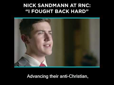 Nick Sandmann at RNC: 'I Fought Back Hard'