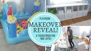PLAYROOM MAKEOVER - Re-Decorate Design Reveal & SPEED CLEAN!!