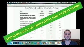 Top 10 Reasons you should pay for an Ebay Store.