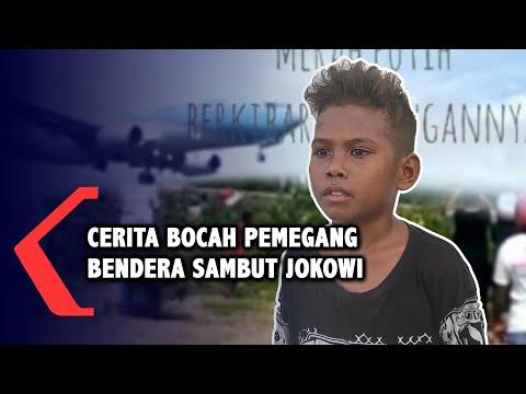 Cerita Bocah Pembawa Bendera Merah Putih Kejar Pesawat Kepresidenan di NTT