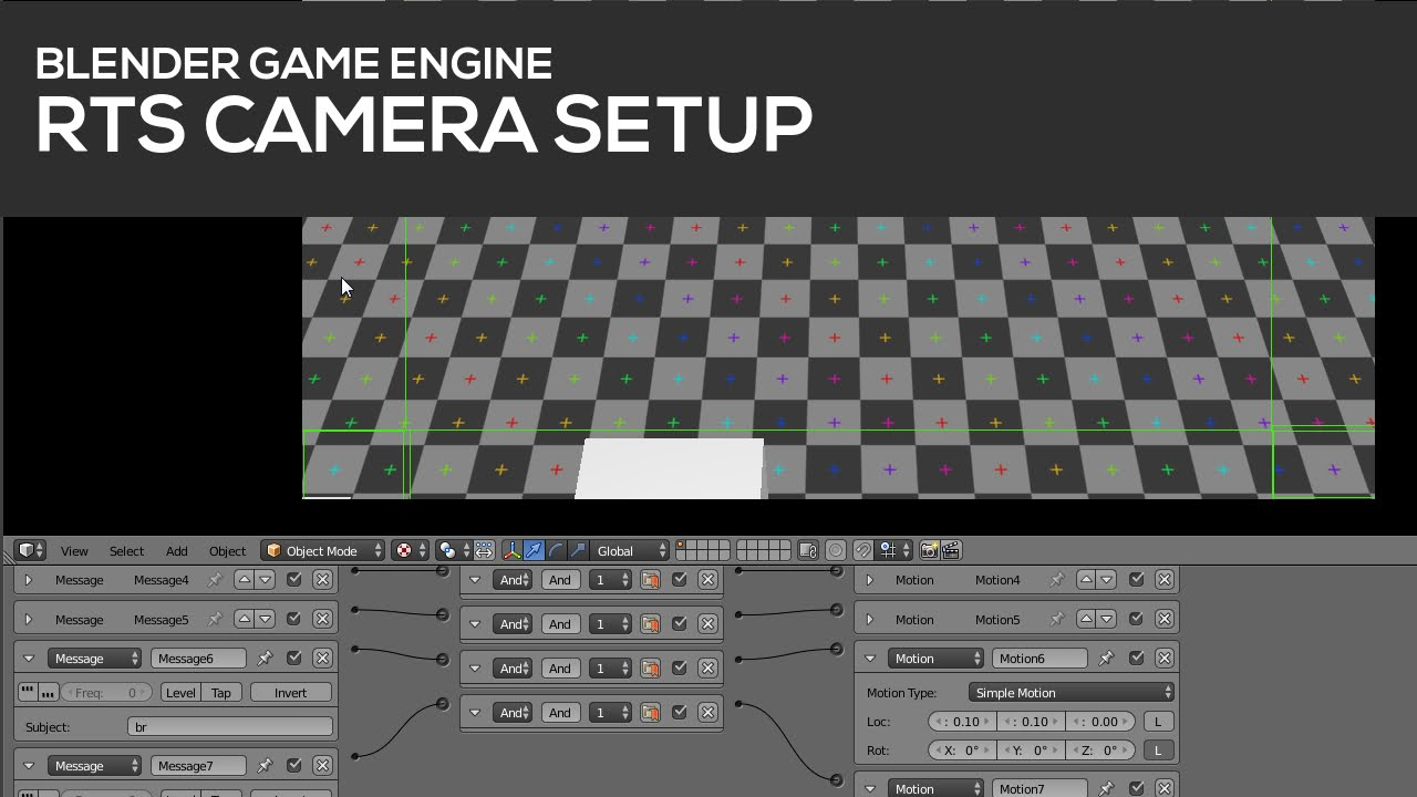 RTS Camera setup in Blender's Game Engine