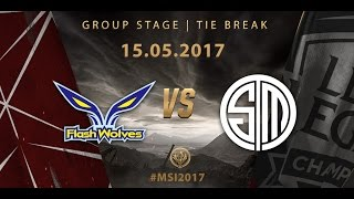 [15.05.2017] FW vs TSM [MSI 2017][Group Stage][Tie Break]