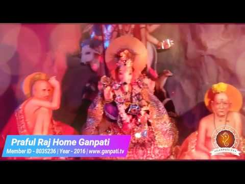 Praful Raj Home Ganpati Decoration Video