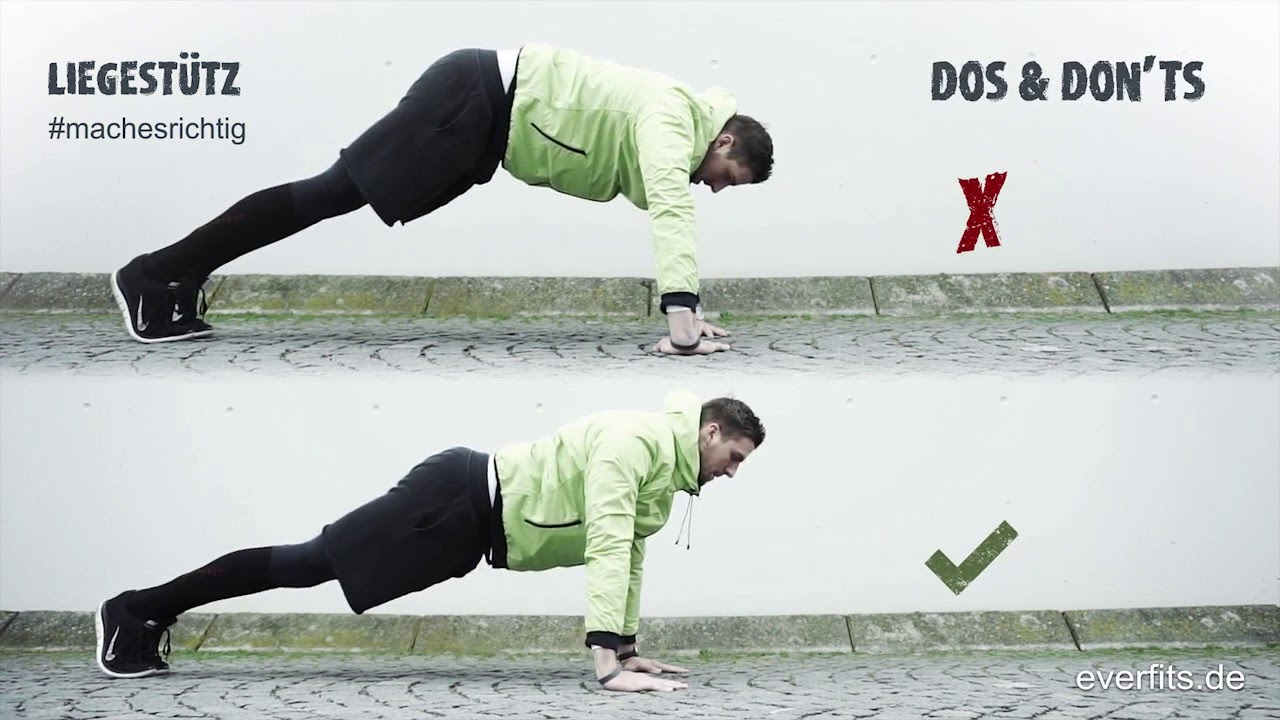 everfits - dos and don'ts - push ups / Liegestütz