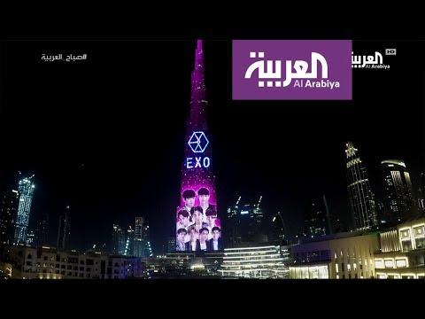 العرب اليوم - شاهد: EXO تعود إلى دبي بعرض ضوئي