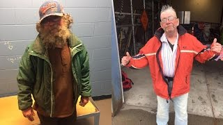 Good-Hearted Police Officers Give Homeless Man Shower, Haircut and New Clothes