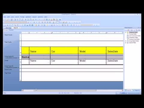 Crystal Reports Tutorial. Create a report, sort and group data, format ...