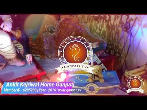 Ankit Kejriwal Home Ganpati Decoration Video