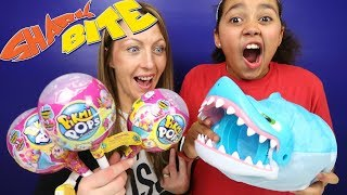 SHARK BITE Toy Challenge Game | Pikmi Pops Surprise Lollipops