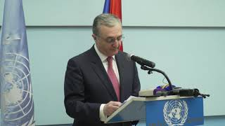 Զ․ Մնացականյանի ելույթը Ցեղասպանության զոհերի հիշատակի օրվան նվիրված միջոցառմանը ՄԱԿ-ի գրասենյակում