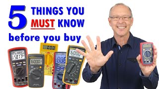Best Multimeter | 5 factors to help you choose the right meter for you.