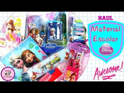 Material escolar de Frozen y Princesas Disney - Haul para el nuevo curso 2016-2017