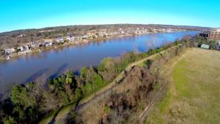 Augusta, Georgia: An aerial view of the Savannah River