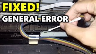 HOW TO FIX EPSON Printer Blinking Lights Flashing General Error XP-100 XP-205 ME-10 ME-101...