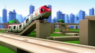 """Железная дорога двухуровневая с вокзалом от компании Интернет-магазин """"Timatoma"""" - видео"""