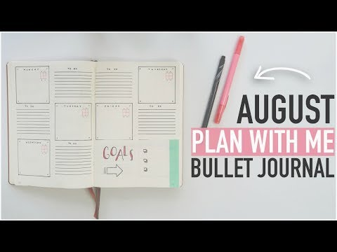 Bullet Journal PLAN WITH ME August 2017