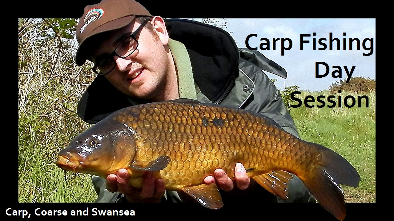 Carp Fishing, Day Session. Carp, Coarse and Swansea Video 134