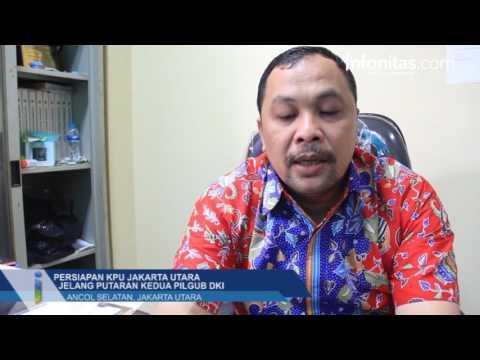 Persiapan KPU Jakarta Utara Jelang Putaran Kedua Pilgub DKI