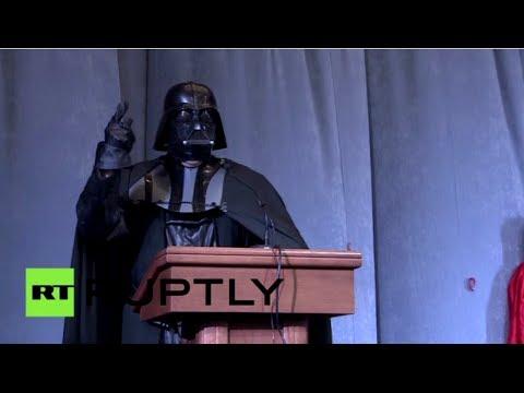 ¡No es broma!  Darth Vader aspira a ser presidente de Ucrania