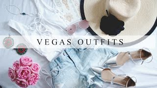 DAY & NIGHT VEGAS OUTFIT IDEAS- HOW TO PACK LIGHT!