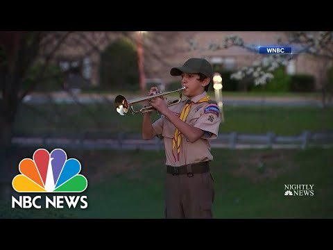 Boy Scout Plays Moving Tribute To Veterans Who Died From Coronavirus | NBC Nightly News