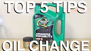 Top 5 Tips for Oil Changes