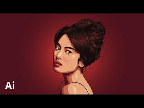 vector portrait using adobe illustrator by midas multimedia
