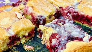 Вишнёвый пирог – кисло-сладкое наслаждение в сливочном тесте с миндалём