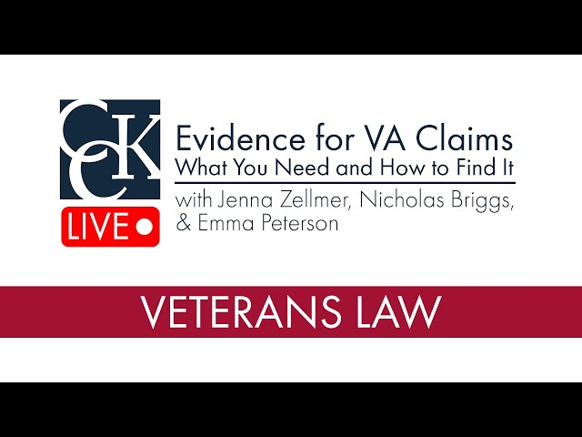 Evidence for VA Claims: What you need and how to find it