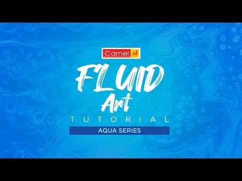 fluid art tutorial aqua series by kokuyo camlim