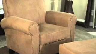 Alden Club Chair With Storage Ottoman - Product Review Video