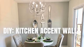 DIY: KITCHEN ACCENT WALL!!