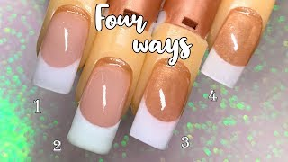 The French Manicure For Beginners   Acrylic Nail Tutorial