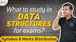 Data Structure Syllabus marks distribution blue print in Gate Net university exam in Hindi