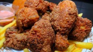 KFC चिकन भूल जायेंगे अगर बनायेंगे यह Crispy Fried Chickenआसानी से घर पर | Spicy Chicken Broast