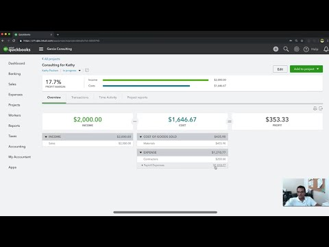 QuickBooks Online Tutorial: Labor and Materials Job Costing for Projects
